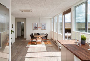 Dining room in the floating house