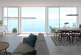 Enjoy the seaview from your floating house